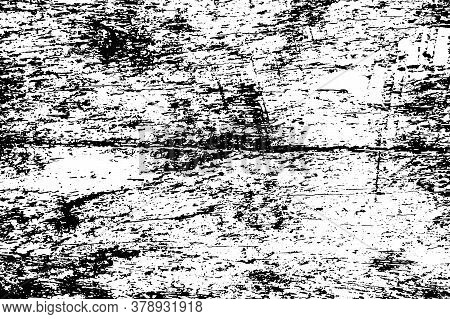 Old Stain Wooden Surface. Black Vector Texture On Transparent Background. Grunge Timber Board. Natur