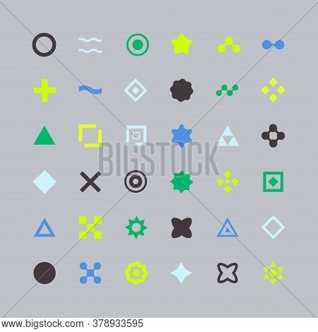 Universal Unique Icons For Web And Mobile. Line Art Illustration With Unique Icon. Data Protection P