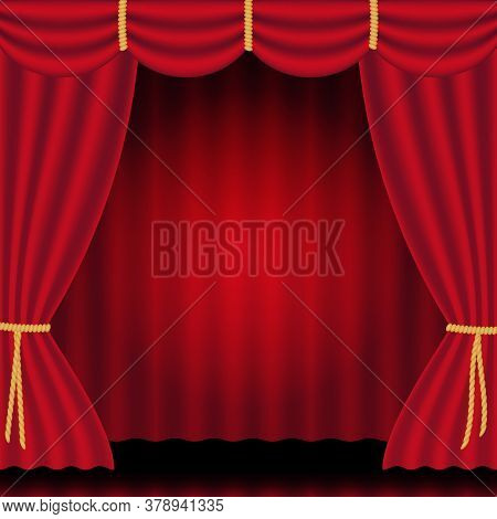 Scarlet Red Luxury Silk Velvet Curtains And Draperies