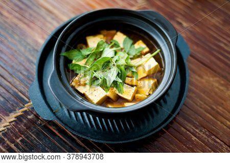 Vietnamese Vegan Tofu Mushroom Dish