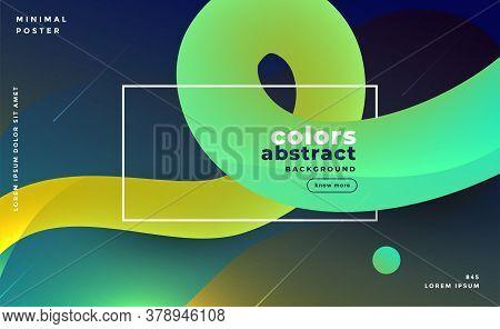 Abstract Bright Gradient Fluid Loop Background Vector Design Illustration