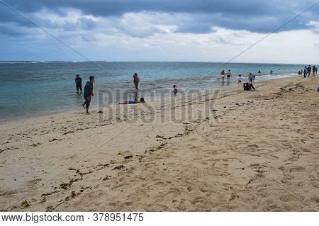 Bali, Indonesia - Feb 10, 2020 : Pandawa Beach, Nusa Dua, Bali, Is Very Popular For Locals Or Touris