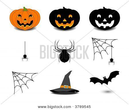 Set Icon Of Halloween