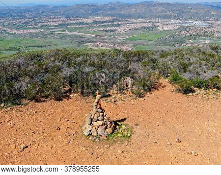 Balancing And Concentration Pile Of Rocks. Relaxation And Meditation Through Simplicity Harmony And