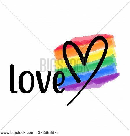Love Vector Template. Happy Pride Day Gay, Rainbow, Homo, Hlbt, Lgbt, Lhbt Lgbti Or Lgbtq Awesome