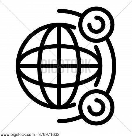 Global Remote Access Icon. Outline Global Remote Access Vector Icon For Web Design Isolated On White