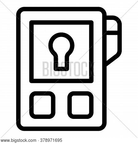 Remote Control Icon. Outline Remote Control Vector Icon For Web Design Isolated On White Background