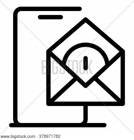 Smartphone Mail Remote Access Icon. Outline Smartphone Mail Remote Access Vector Icon For Web Design