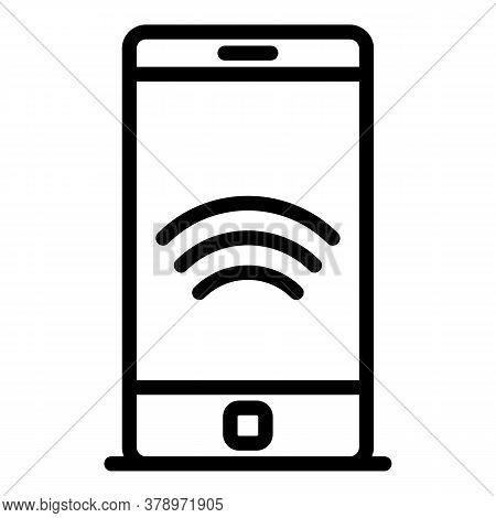 Smartphone Remote Access Icon. Outline Smartphone Remote Access Vector Icon For Web Design Isolated