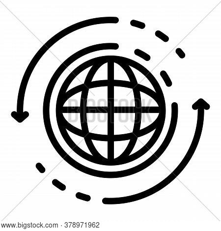 Global Communication Remote Access Icon. Outline Global Communication Remote Access Vector Icon For