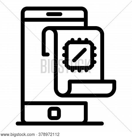 Smartphone Operating System Icon. Outline Smartphone Operating System Vector Icon For Web Design Iso