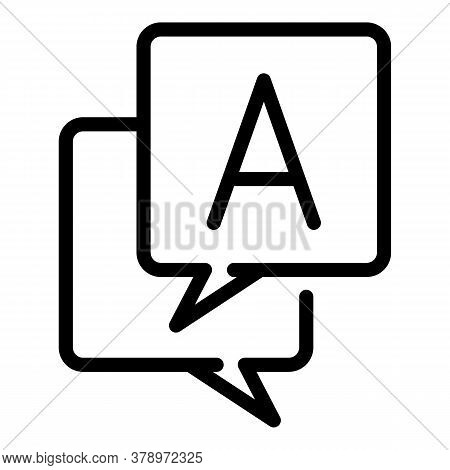 Translate Operating System Icon. Outline Translate Operating System Vector Icon For Web Design Isola