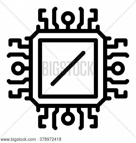Operating System Modern Processor Icon. Outline Operating System Modern Processor Vector Icon For We