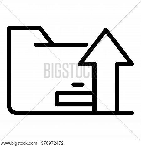 Operating System Upload Folder Icon. Outline Operating System Upload Folder Vector Icon For Web Desi