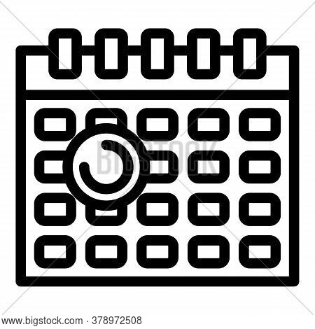 Operating System Update Time Icon. Outline Operating System Update Time Vector Icon For Web Design I