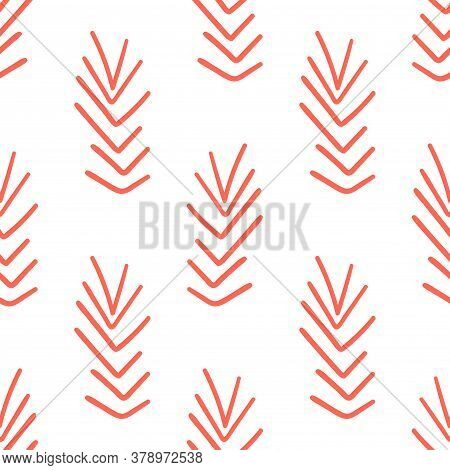 Abstract Cartoon Geometric Seamless Pattern With Geo Tribal Lines. Doodle Native Geometry Background