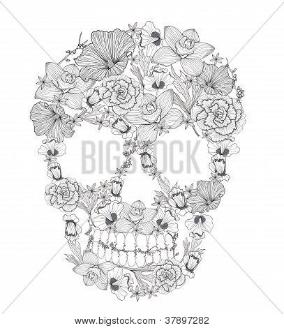Skull From Flowers.