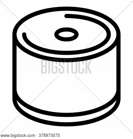 Metallurgy Steel Roll Icon. Outline Metallurgy Steel Roll Vector Icon For Web Design Isolated On Whi