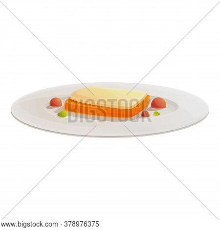 Cheese Sandwich Molecular Cuisine Icon. Cartoon Of Cheese Sandwich Molecular Cuisine Vector Icon For