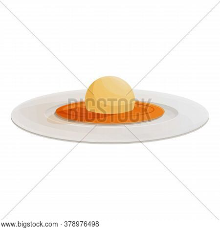 Organic Molecular Food Ball Icon. Cartoon Of Organic Molecular Food Ball Vector Icon For Web Design