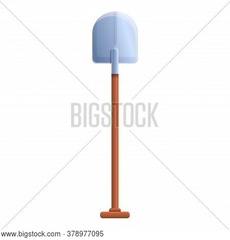 Garden Shovel Icon. Cartoon Of Garden Shovel Vector Icon For Web Design Isolated On White Background