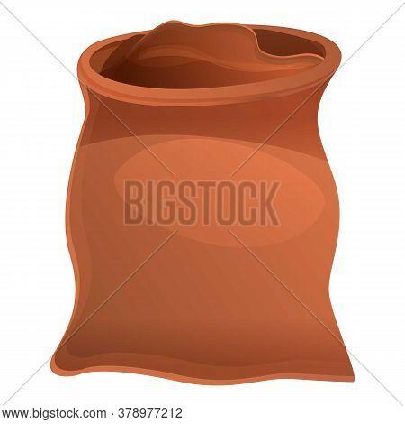Fertilizer Mineral Sack Icon. Cartoon Of Fertilizer Mineral Sack Vector Icon For Web Design Isolated