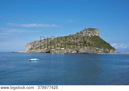 View Of Dino Island In Calabria, Italy