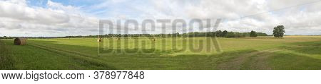 Banner For Site, Landscape Countryside In Summer