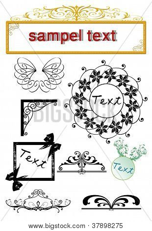 alligraphic design elements and page decoration - lots of useful elements to embellish