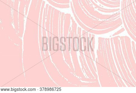 Grunge Texture. Distress Pink Rough Trace. Flawless Background. Noise Dirty Grunge Texture. Delightf