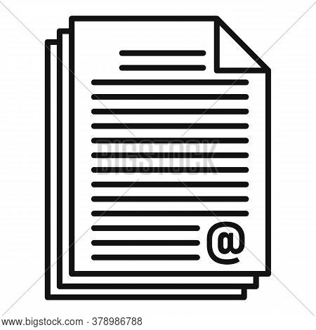 Online Loan Document Stack Icon. Outline Online Loan Document Stack Vector Icon For Web Design Isola