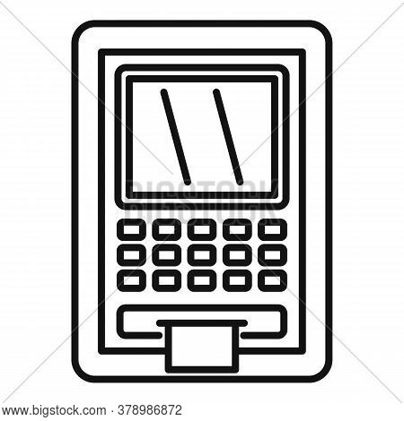 Atm Money Online Loan Icon. Outline Atm Money Online Loan Vector Icon For Web Design Isolated On Whi