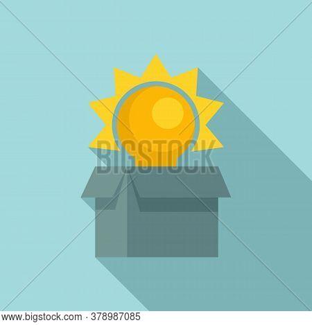 Unboxed Idea Innovation Icon. Flat Illustration Of Unboxed Idea Innovation Vector Icon For Web Desig
