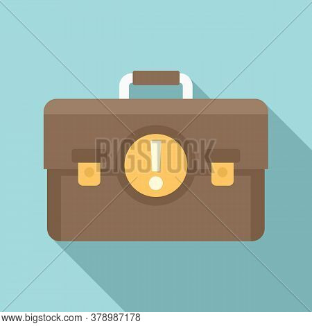 Leather Case Innovation Icon. Flat Illustration Of Leather Case Innovation Vector Icon For Web Desig