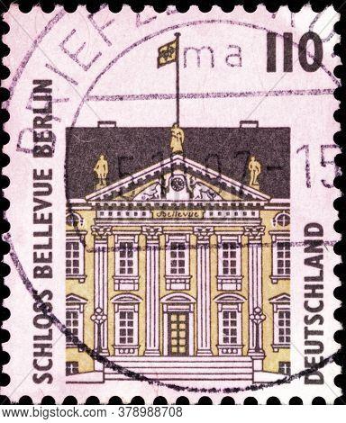 02 09 2020 Divnoe Stavropol Territory Russia The Postage Stamp Germany 1997 Sightseeings Bellevue Ca
