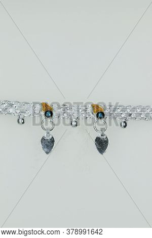 Pure Stunning Silver Fancy Payal Anklet Design For Girls And Women, Anklet Design