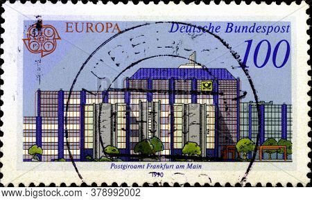 02 09 2020 Divnoe Stavropol Territory Russia The Postage Stamp Germany 1990 Europa Stamps - Post Off