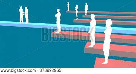 Sales Growth Chart with Successful Sales Person Concept 3d Render