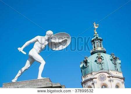 Sculpture at the door of the Schloss Charlottenburg, Berlin