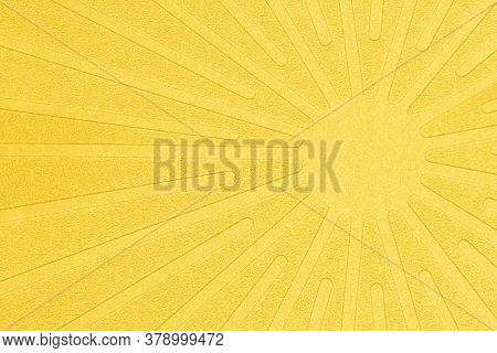 Fabric Texture With Sun Imprint Stamp Background.