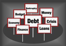 Debt concept illustration