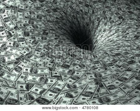 Dollar Flow In Black Hole, 3D