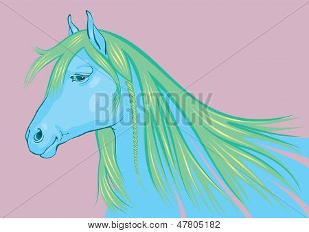 Blue-Green Horse, the simbol of 2014 New Year