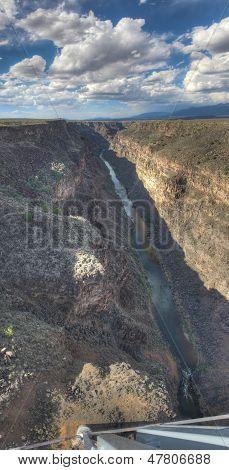 Looking down Rio Grande Gorge Bridge