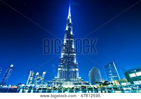 Dubai downtown and Burj Khalifa
