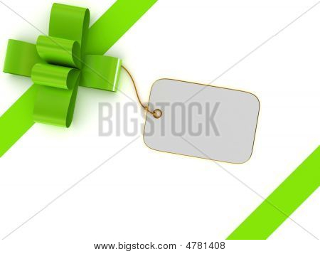 Gift Box With Blank Label