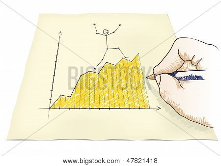 Hand Draws A Graph
