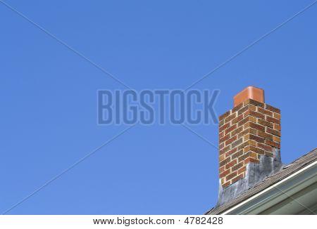 Brick Chimney Blue Sky