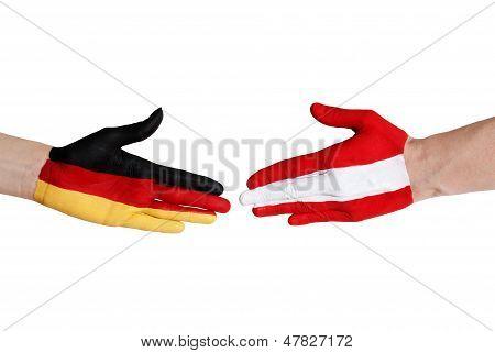 German And Austrian Handshake