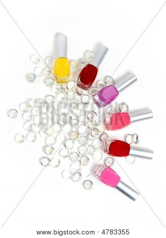 Nail Polishes And Jewels